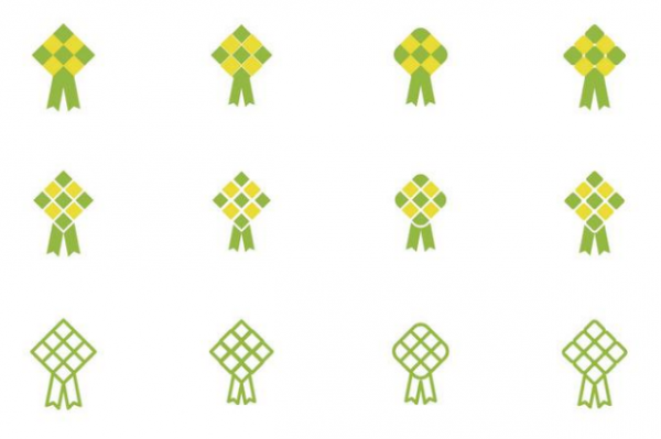 set_of_ketupat_icon