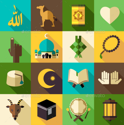 islam_flat_modern_icon_vector_illustration