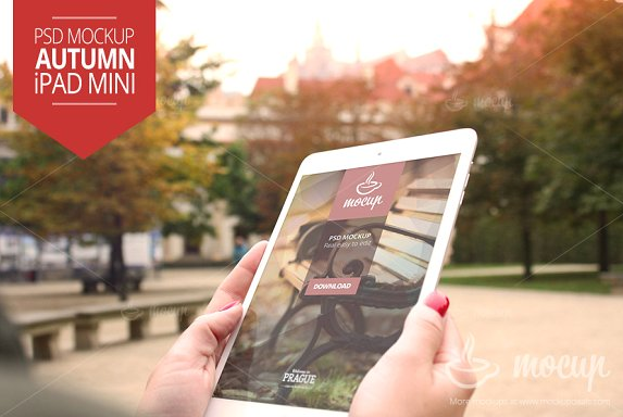 photorealistic_psd_mockup_of_the_i_pad_mini_in_autumn_time