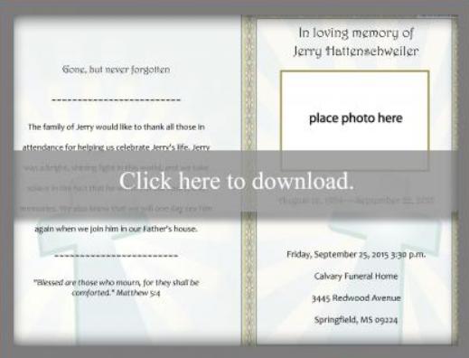10+ Funeral Program Templates (PLanner & Invitation) | UTemplates
