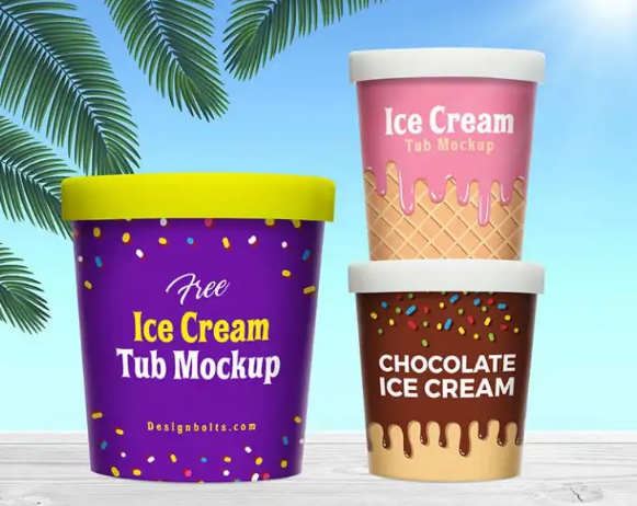 free_ice_cream_bucket_tub_mockup_psd