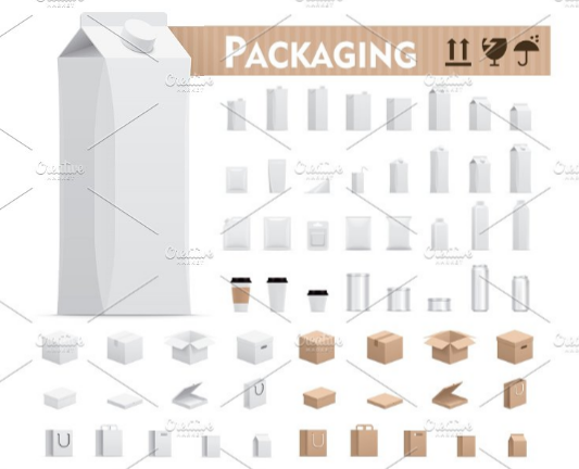vector_retail_packages_set