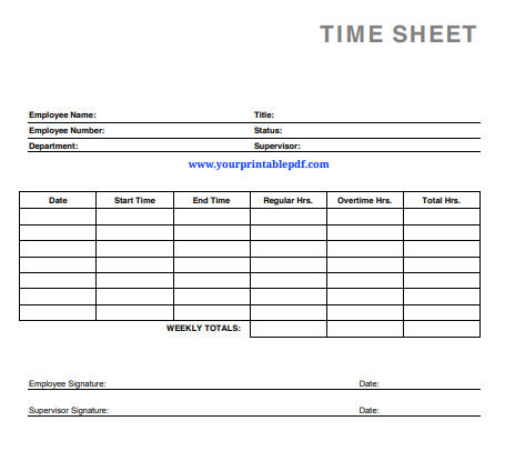 It is a graphic of Printable Time Card with daily