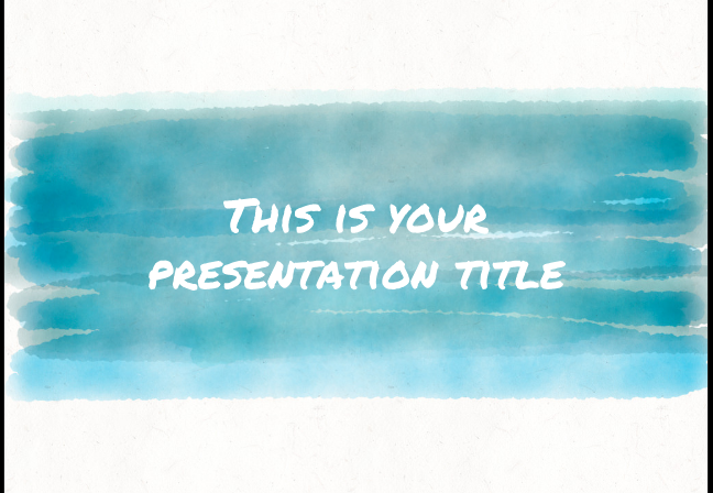 10 stunning watercolor powerpoint presentation templates utemplates 3artsy and playful powerpoint template free toneelgroepblik Image collections