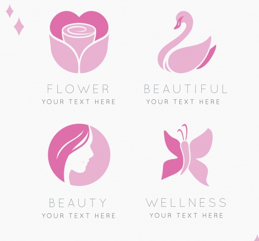 set_of_four_logos_beauty_centers