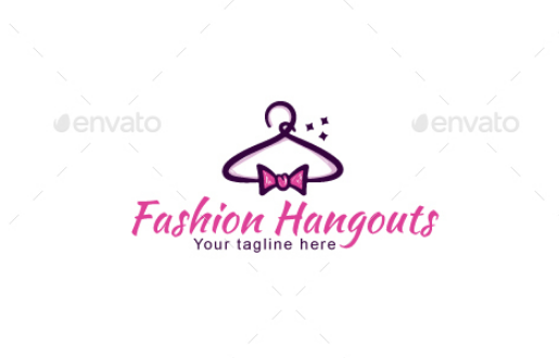 fashion_hangouts_stock_logo_template