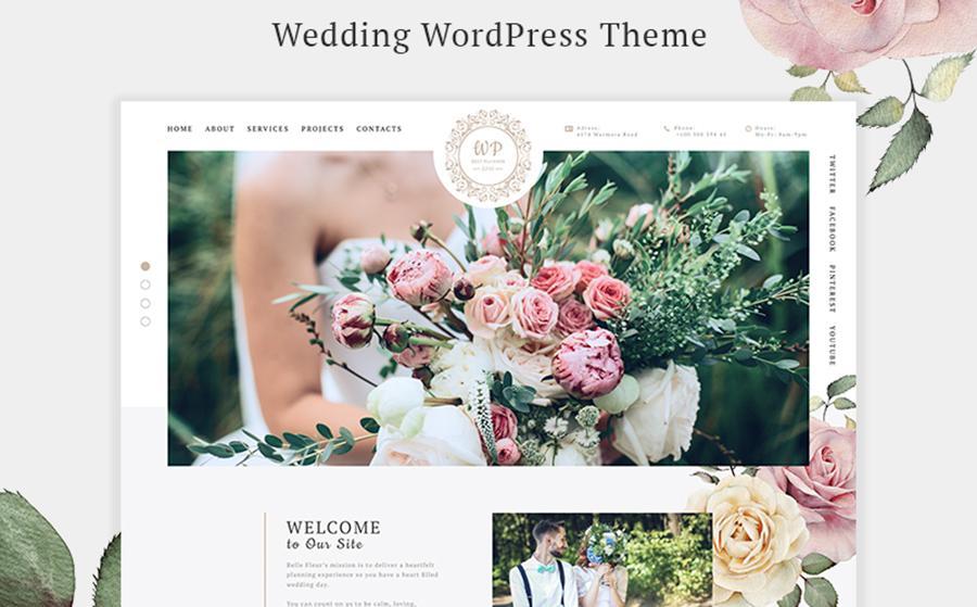 Belle Fleur - Wedding Landing Elementor WordPress Theme