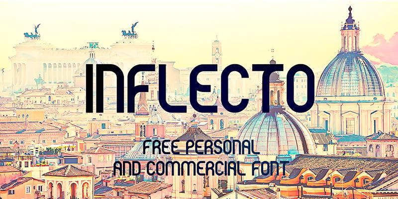 inflecto_curved_stylish_font