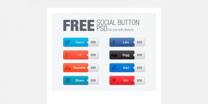free_psd_social_button_set