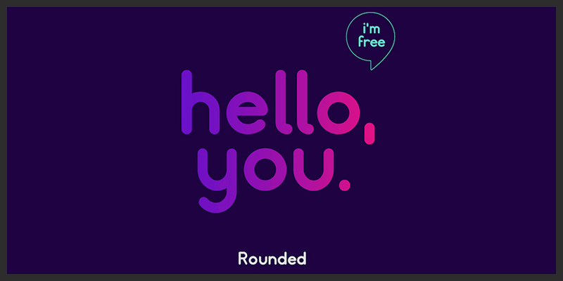 free_rounded_logo_typeface