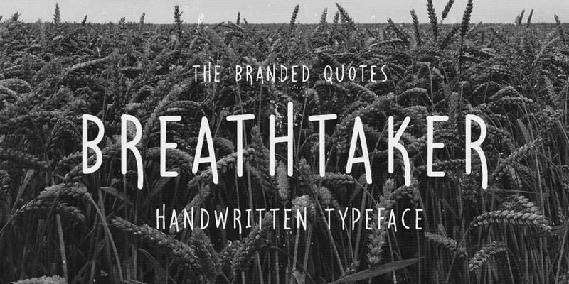 breathtaker_handwritten_typeface_free_font