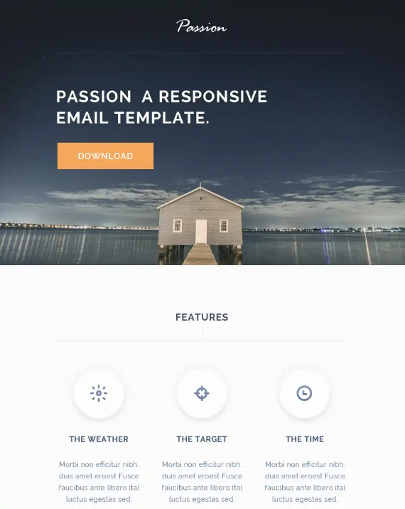 25 free responsive business email templates utemplates passion is a free multiple purposes html responsive email template with psd included the template is a table based structure with inline css the layout is accmission