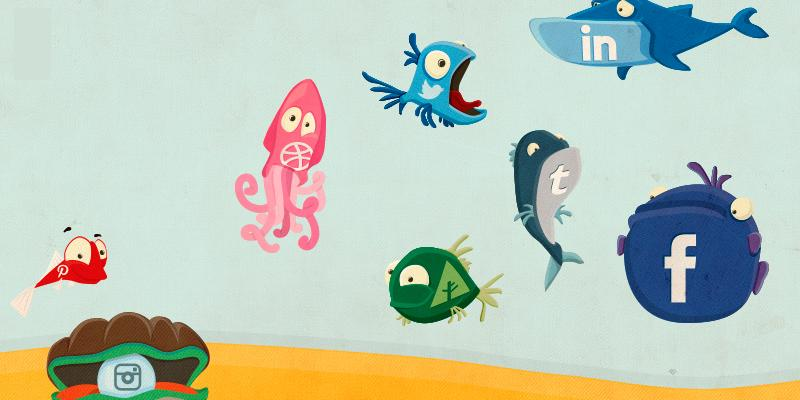 social_fish_illustrated_icons
