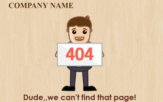 poses_free_404_page_not_found_web_template