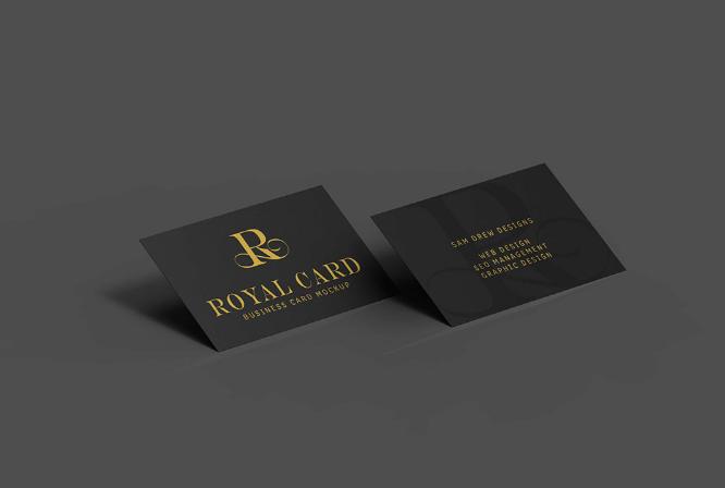 Black Business Card Psd Mockups