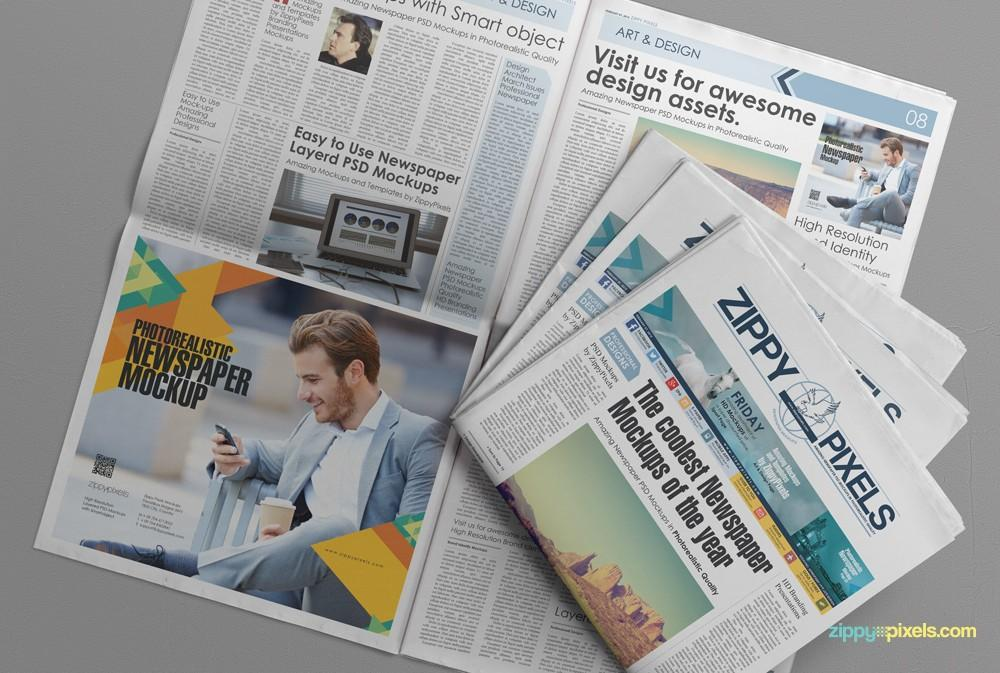 free_newspaper_&_advertising_mockup