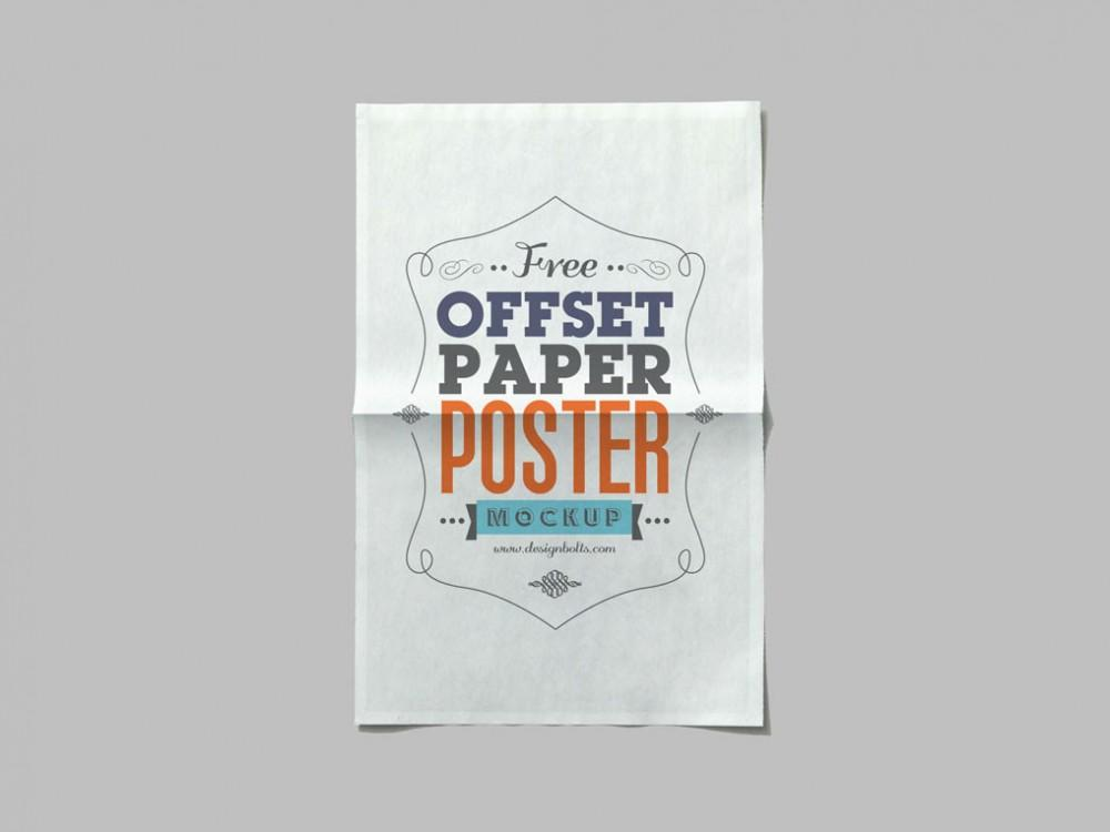 free_offset_paper_poster_psd_mockup