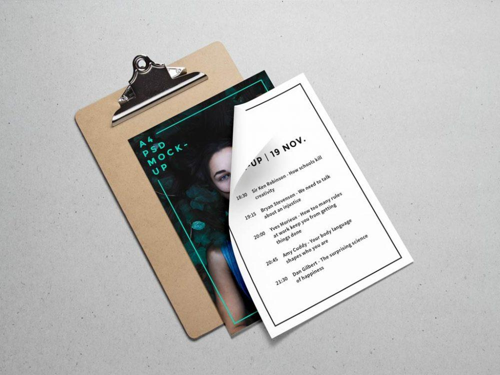 free_a4_paper_and_clipboard_psd_mockup