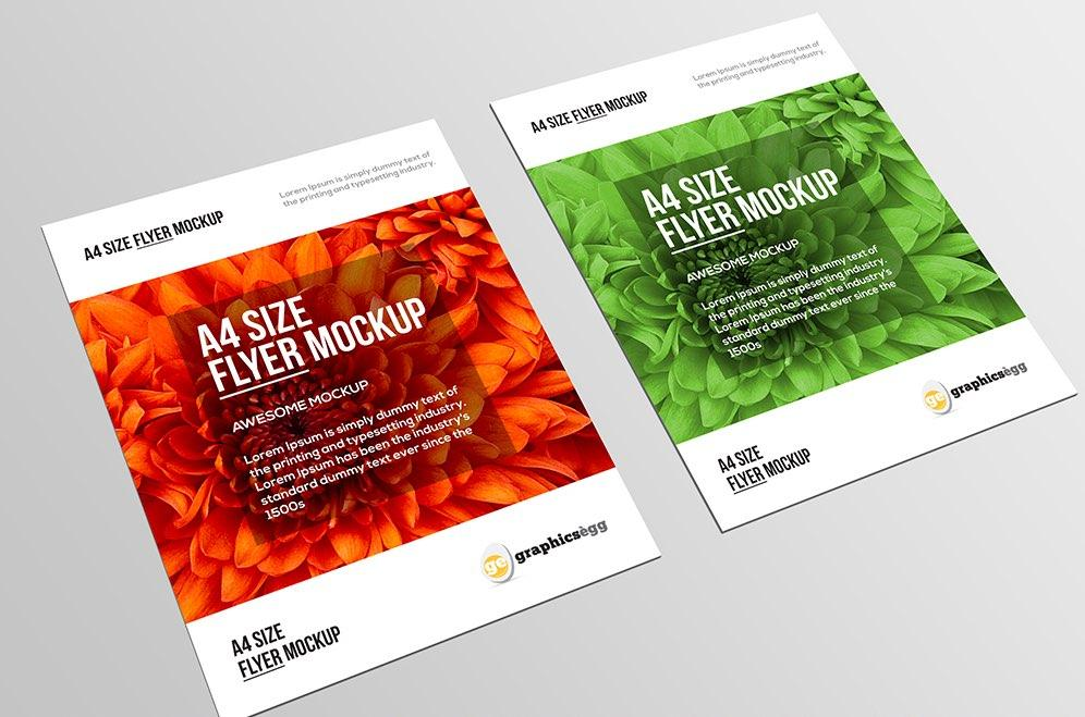 free_a4_paper_/_flyer_psd_mockup