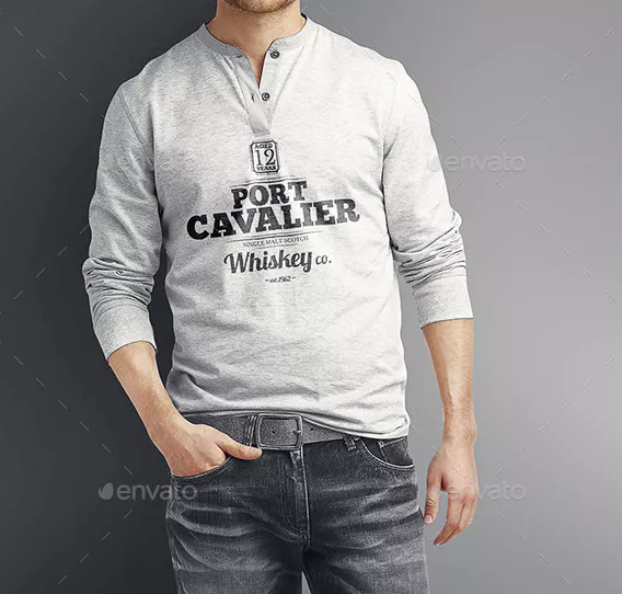 Long Sleeve T Shirt Mockup Free Download