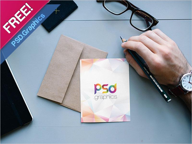free_postcard_with_envelope_mockup
