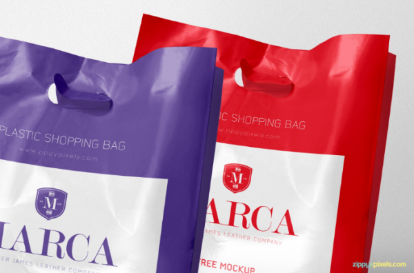 free_two_plastic_bags_mockup
