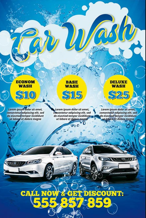 Free 26+ car wash flyers in ms word | psd | ai | eps indesign.