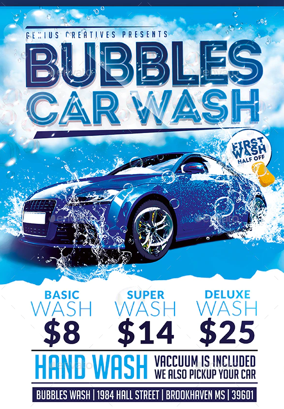 Car Detailing Flyer Template from utemplates.net