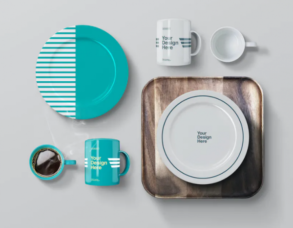 plates_mug_coffee_wooden_tray_mockup